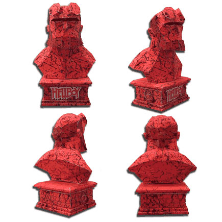 European and American Movies Hero Hellboy Bust 3D Paper Model DIY Handmade Toys