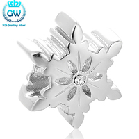 Sterling Silver Jewelry Snowflake Charm Bracelet 925 Sterling Silver Charm Bracelets For Women Jewelry Findings Comonents