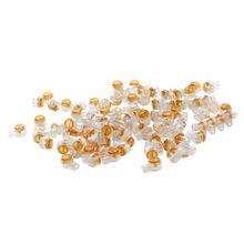 100 X Air плотный оранжевый кнопка Clear кабеля uy стыковые соединения Инструменты для наращивания волос