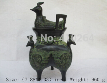 [old craft ] The ancient Chinese folk collection bronze incense burner. Four bird[old craft ] The ancient Chinese folk collection bronze incense burner. Four bird