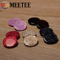 50pcsMEETEE Factory Spot Lady 2 1cm Resin Buckle Wholesale Coffee Coat Multicolor Inlay Sweater Button Black