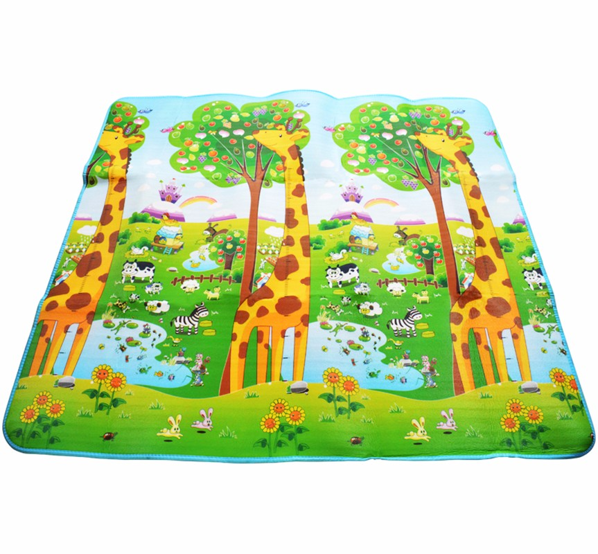 Baby-Crawling-Mat-2-1-8m-Thick-0-5cm-Double-sided-Bear-Giraffe-Baby-Play-Activity