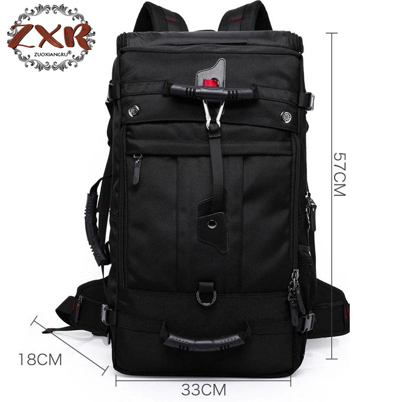 Men Backpack Travel Bag Large Capacity Versatile Utility Mountaineering Multifunctional Waterproof Backpack Luggage Bag 60l fashion large waterproof men travel bags backpack travel mountaineering backpack bag nylon luggage bags
