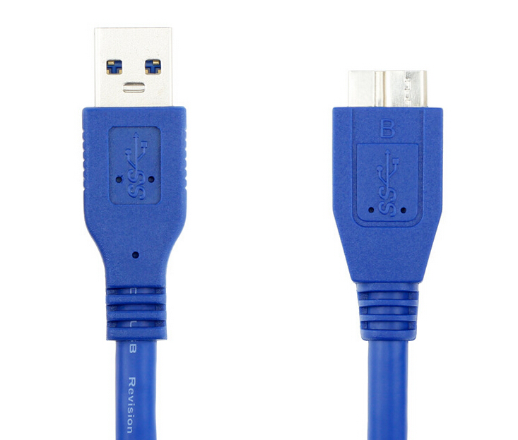 Micro USB 3.0 Cable Type A Male to Micro-B Male Blue 10 Foot