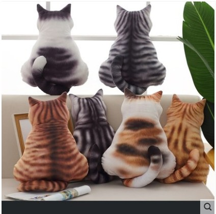 Free shipping Creative figure cat hold pillow doll plush toy big sofa window place a birthday present image