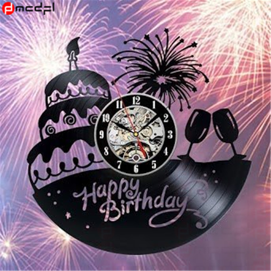 Phenomenal Happy Birthday Design 12 Inch Lp Vinyl Record Wall Clock Birthday Personalised Birthday Cards Arneslily Jamesorg