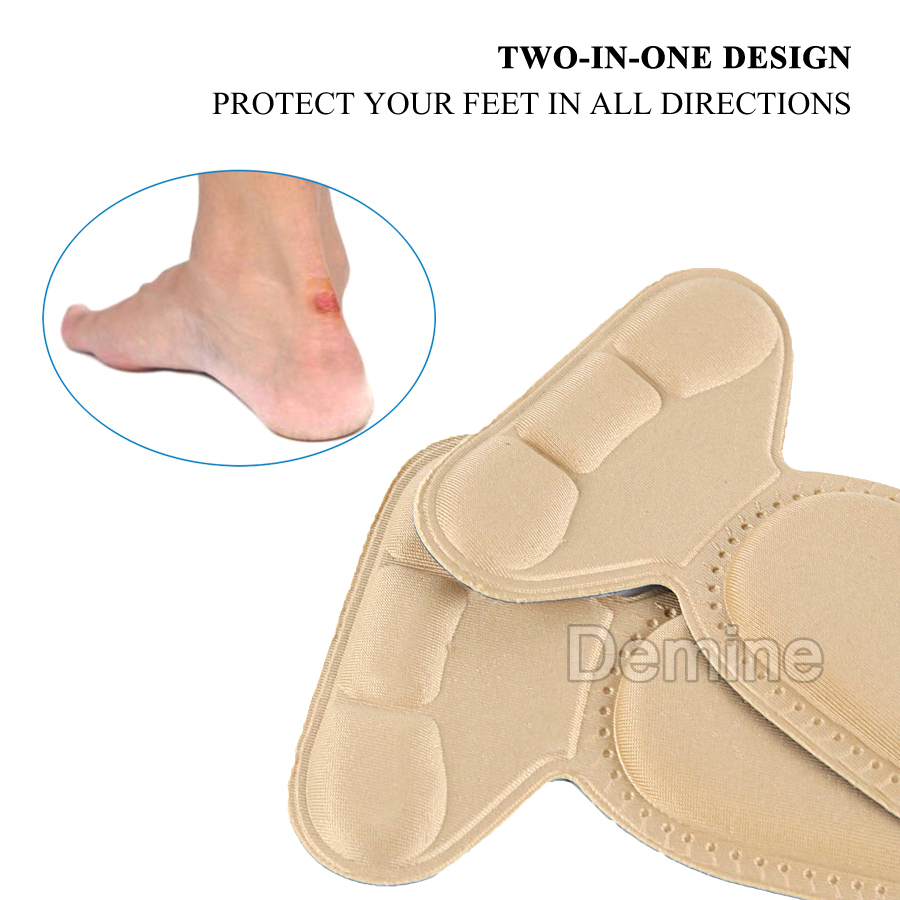 5D Insoles for Women High Heels Inserts Pad Arch Support Heel Back Protector Soft Sponge Massage Shoes Pads Foot Care Insole in Insoles from Shoes
