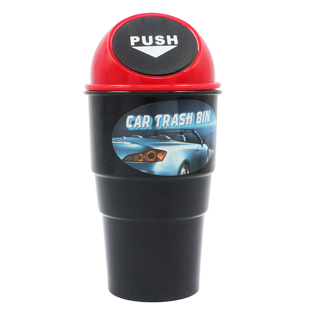 1PC Mini Car Trash Bin Can Garbage Plastic Dust Organizer Storage Bucket