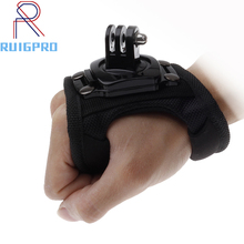 360 Degrees Wrist Band Arm Strap Belt Tripod Mount for GoPro Hero 7 6 5 4 3 Camera Fist Adapter Band Case for Go Pro Accessories pj 002 protective silicone case wrist band for gopro hero 3 3 wi fi remote controller white