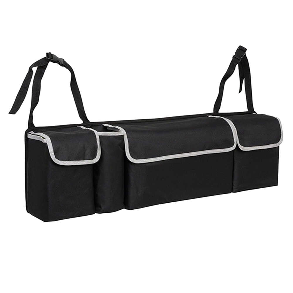 Car Trunk Organizer Backseat Storage Bag High Capacity Oxford Cloth Car Seat Back Organizers Interior Accessories