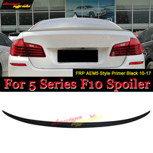 цена на F10 wing Rear spoiler FRP Unpainted AEM5 Style Fits For BMW 5 Series 520i 525i 528i 535i 550i Rear Trunk Spoiler Wing 2006-2013