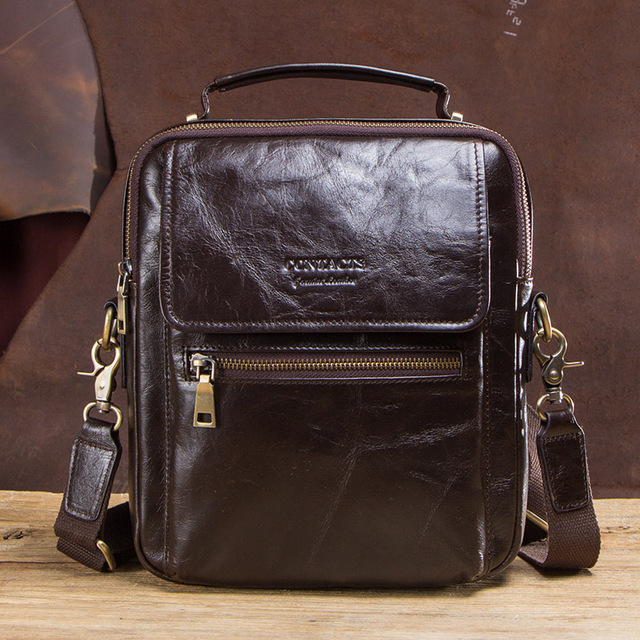 CONTACT'S new genuine leather messenger bag for men casual shoulder bags male flap bag luxury brand crossbody bags for 9.7 5