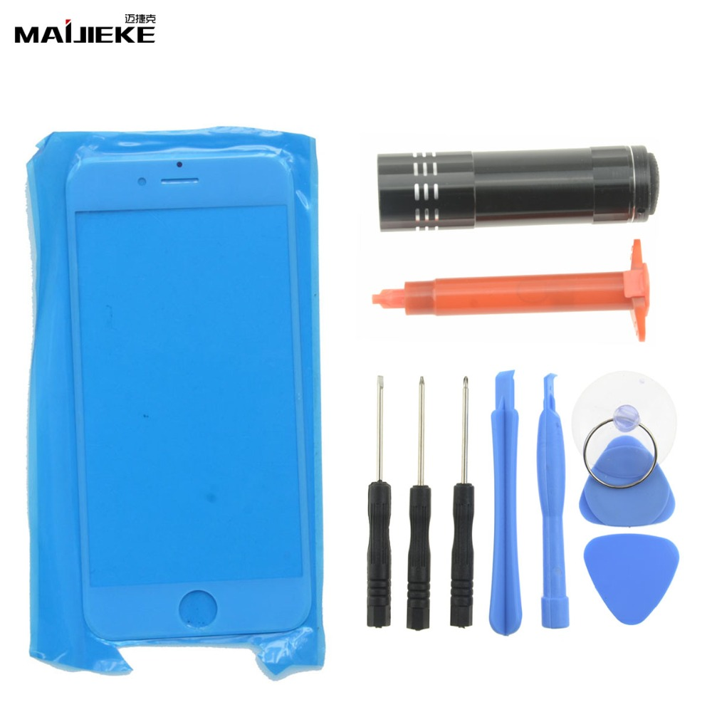 Image 2 - New MAIJIEKE Touch Panel Outer Glass For iPhone 8 7 plus 6s 6 plus 5 5s Front Glass Lens Screen Replacement UV Glue Tools Set-in Mobile Phone Touch Panel from Cellphones & Telecommunications