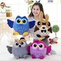 The new variety of color personality cute cartoon owl owl doll plush toys to send his girlfriend a gift free shipping