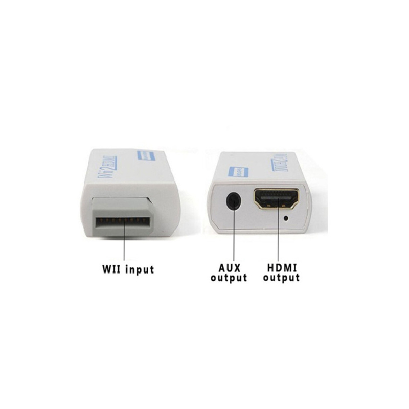 HTB1U7fGeoQIL1JjSZFhq6yDZFXaU For Wii TO HDMI Converter Wii2HDMI with 3.5mm Audio Video Output Automatic Upscaler Adapter Support NTSC 480i PAL 576i 1080P