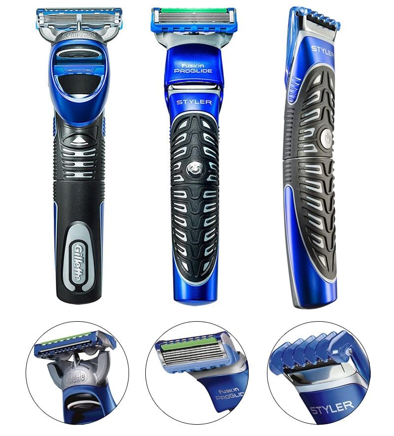 0 Gillette Fusion Proglide Styler 3 In 1 Razor Beard Trimmer Edging Blade waterproof For Men FACE CARE Facial Hair