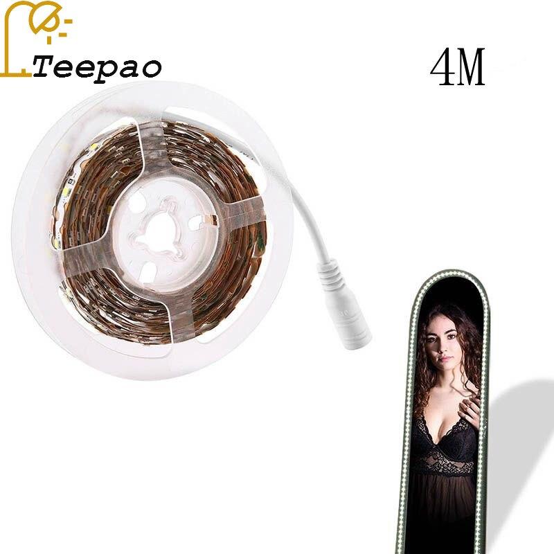 4 м Гибкие светодиодные полосы 6000 К дневной белый светодиод косметическое зеркало огни комплект для макияжа туалетный столик (США Plug) светод…