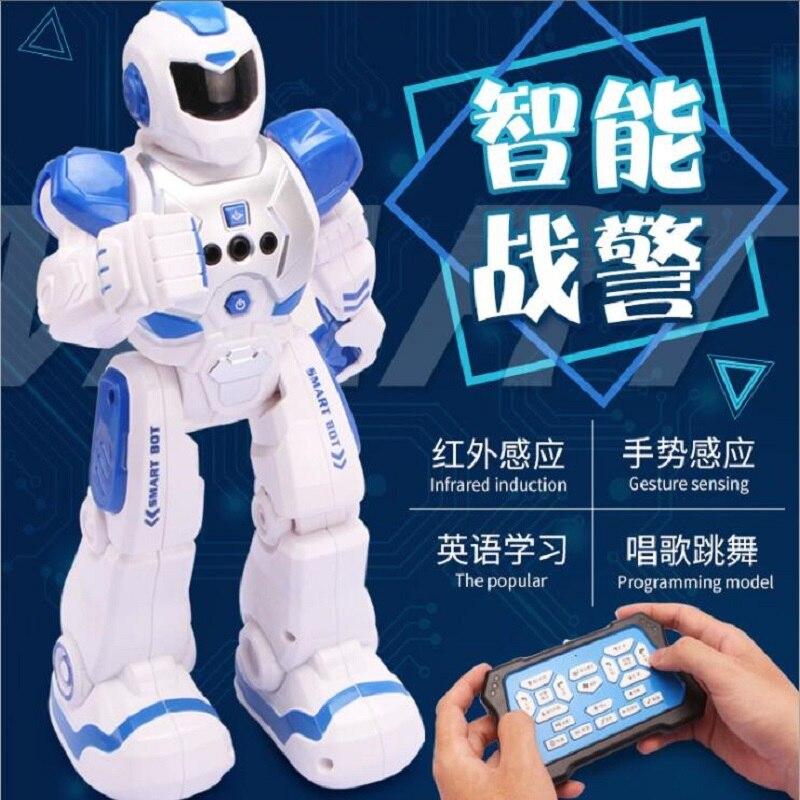 Éducation précoce chant électrique et danse infrarouge intelligent détection de geste télécommande enfants Robot humanoïde