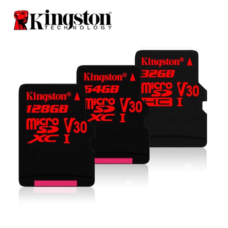 Kingston Micro SD Carte 32 gb 64 gb 128 gb Carte Mémoire TF microSD Rouge HD 4 k D'action Caméra memoria Cartes pour Gopro Drone Smartphone