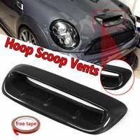 Front Hood Vent For Mini Cooper S R56 2007 2014 VTX Style Real Carbon Fiber Bonnet Car Hood Vents Air Flow Intake Scoop Covers