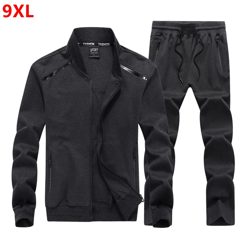 Spring Large Size Men's Suit Baseball Collar Plus Size XL Youth Fashion 140kg Sweater Men 8XL 7XL 6XL 5XL