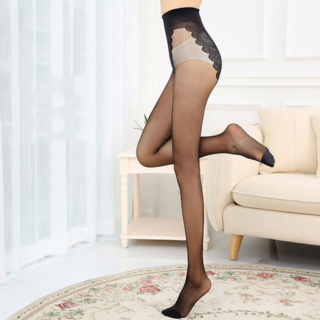 4 Colors Thin Stretchy Slim  Butterfly Fork High Hosiery Tights Pantyhose Sexy Nylon Spandex Lady Transparent  for woman 1