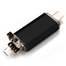 three in one U disk including type c interface micro USB interface USB2 0 interface phone