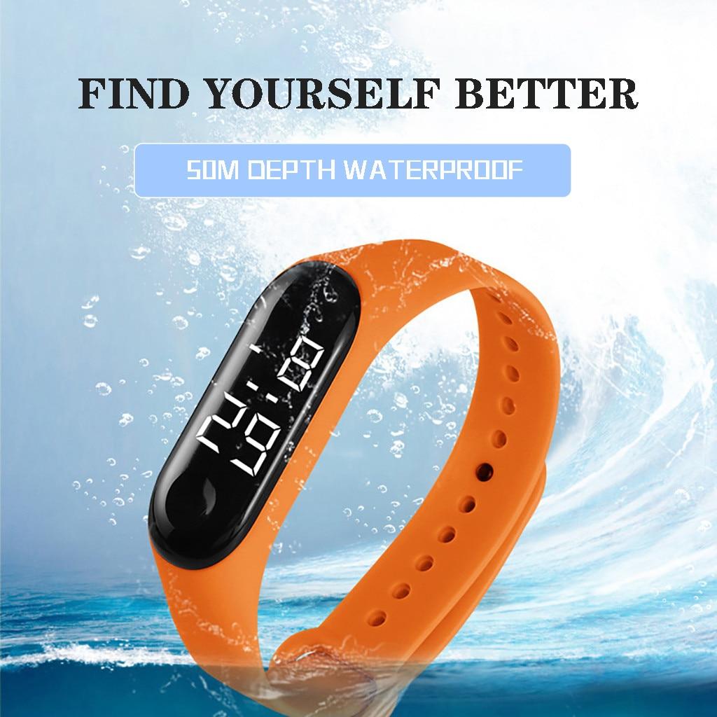 LED Electronic Sports Luminous Sensor Watches Fashion Men and Women Watches  Dress Watch digital Watch fashion gif Men's wa 5