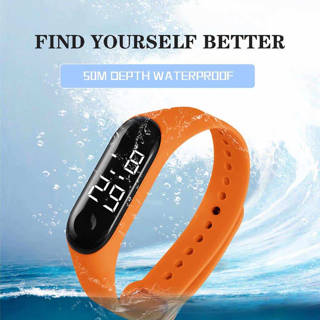 Led eletrônico esportes sensor luminoso relógios moda masculina e feminina relógios vestido relógio digital moda gif masculino wa