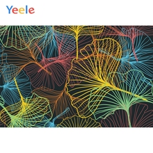 Yeele Wallpaper Colorful Ginkgo Tree Leaf Room Decor Photography Backdrop Personalized Photographic Backgrounds For Photo Studio