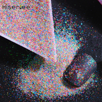 High quality 30 packs 20G / bag fashion charm pop flash AB solid shiny colorful design nail glitter DIY nail art decoration