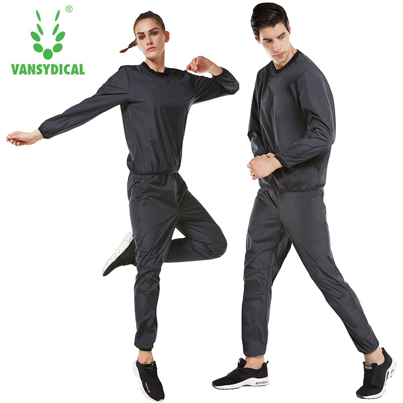Vansydical Women Men Sports Sets Sweat Suit Running Suits Fitness Lose Weight Jacket Gym Sportswear Fitness Training Tracksuits