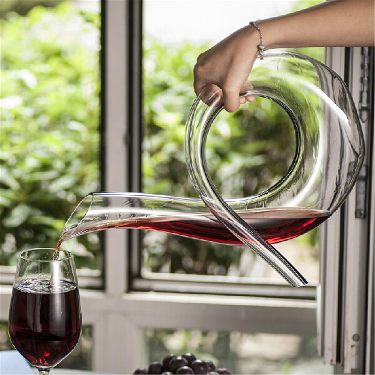 Neue Handgemachte Kristall Rotwein Ausgießer Glas Dekanter Brandy - Küche, Essen und Bar - Foto 3