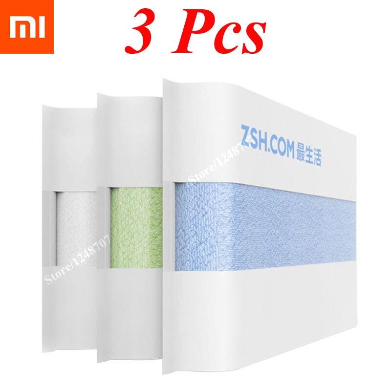 imágenes para 3 unids original xiaomi zsh serie young mi algodón toalla toalla facial toalla toalla de absorción de agua de alta calidad xiaomi con menor caja