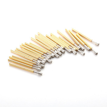 цена на 100PCS P75-A Round Tip Spring Test Probe Pogo Pin for Home Tool Probe Contact Finger Nickel Plated Test Probe Needle Dia 1.3mm