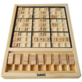 Sudoku wooden board game 31*23*2.5 cm Boxed 81 chess 40 questions puzzles Toy