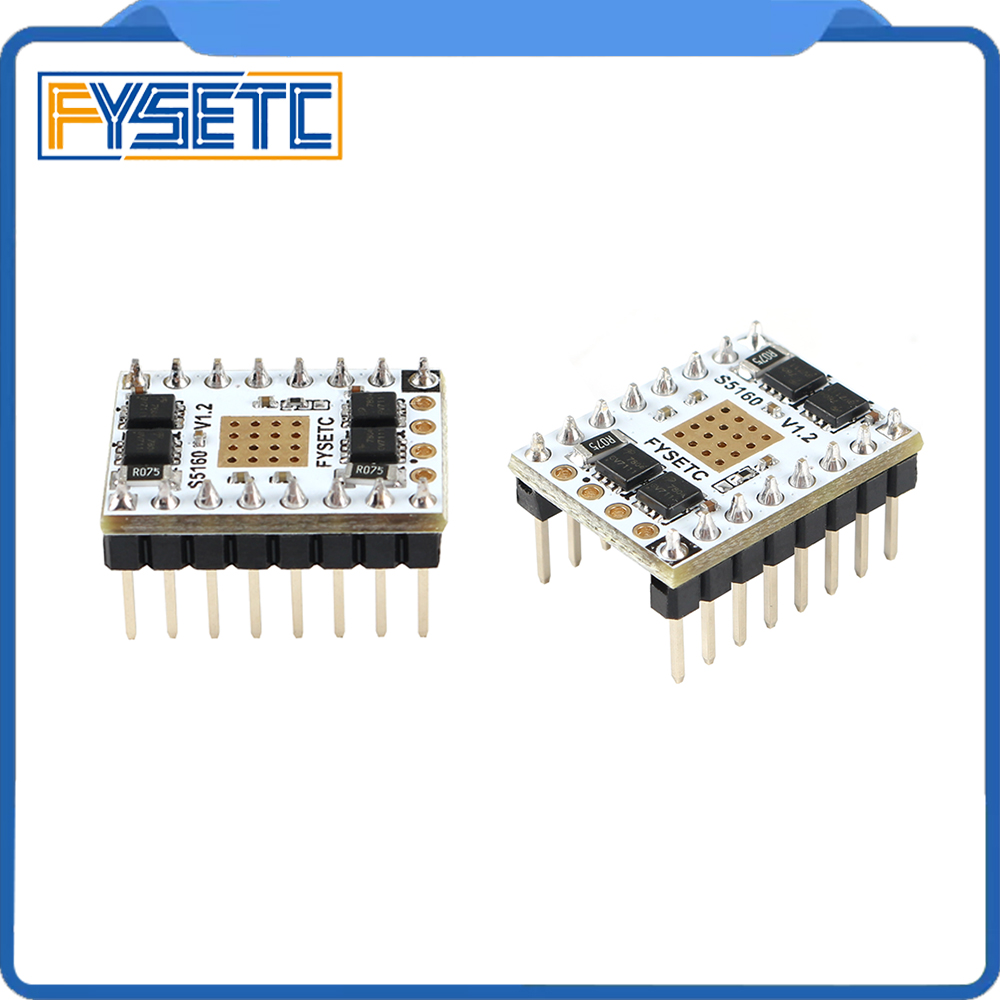2PCS 3D Printer Parts TMC5160 V1 2 SPI Stepper Motor Driver S5160 Stepstick Mute Driver Flying