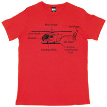 HELICOPTER DIAGRAM MENS PRINTED T-SHIRT New T Shirts Funny Tops Tee Unisex