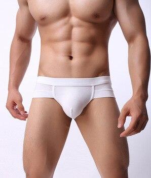 EXILIENS Brand New Underwear Men Brief Mens Briefs Sexy Ropa Fashion Modal Solid Cueca Masculina Sexy U Convex Size M-2XL 100401
