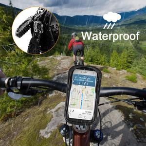 Image 3 - אופני אופניים טלפון הר שקית עמיד למים מול מסגרת למעלה צינור כידון תיק מגע מסך 6.0 אינץ MTB כביש אופניים טלפון מחזיק