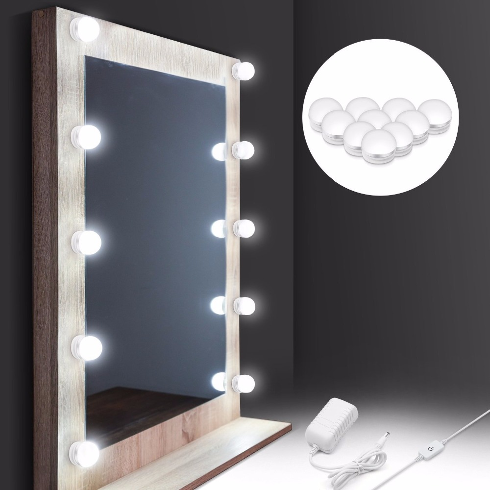 Hollywood Style Makeup Mirror Vanity Led Light Bulb Kit