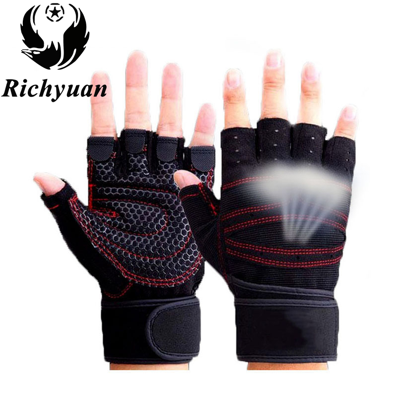 Body Building Gym Gloves Fitness Body Building Weight Lifting Gloves Men Women Custom Exercise Protect Wrist Training Gym Gloves
