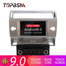 TOPBSNA Android 9.0 Car DVD Player For Citroen C4 C-Triomphe C-Quatre GPS Navigation 1 Din Car Radio Multimedia Wifi Stereo RDS
