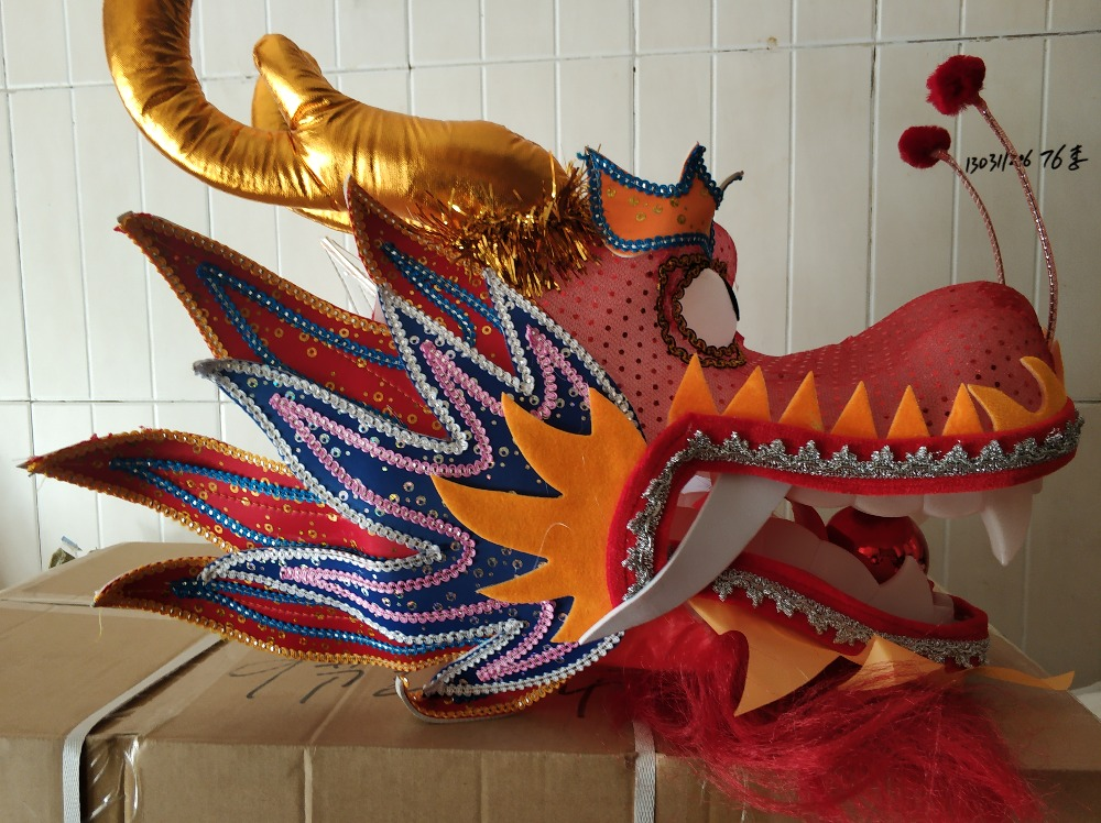 The Dragon Dance Head In Student Size Free Shipping