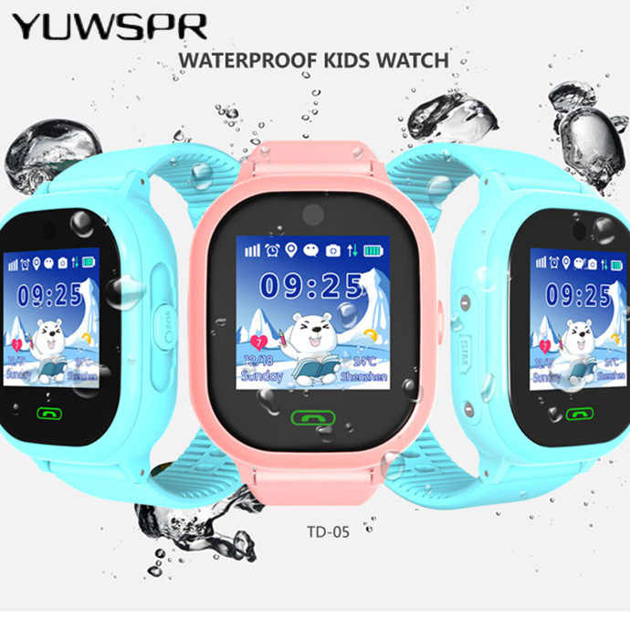 kids tracker watch IP67 waterproof swimming camera children Watch touch Screen SOS Call  Watch TD06S
