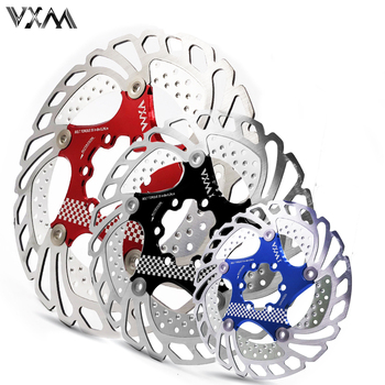 VXM Bicycle Brake Cooling Disc Floating Ice Rotor For MTB Road Bike  203mm 180mm 160mm 140mm Cooling Brake Rotors Bicycle Parts 160mm 180mm 203mm disc brake rotor for snail mountain bike mtb float floating cycling bicycle aluminum rotors disc brake rotor