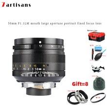 Lentes 7 Artisans 50mm F1.1large Aperture Paraxial M-mount Lens For Cameras M-m M240 M3 M5 M6 M7 M8 M9 M9p M10 lens