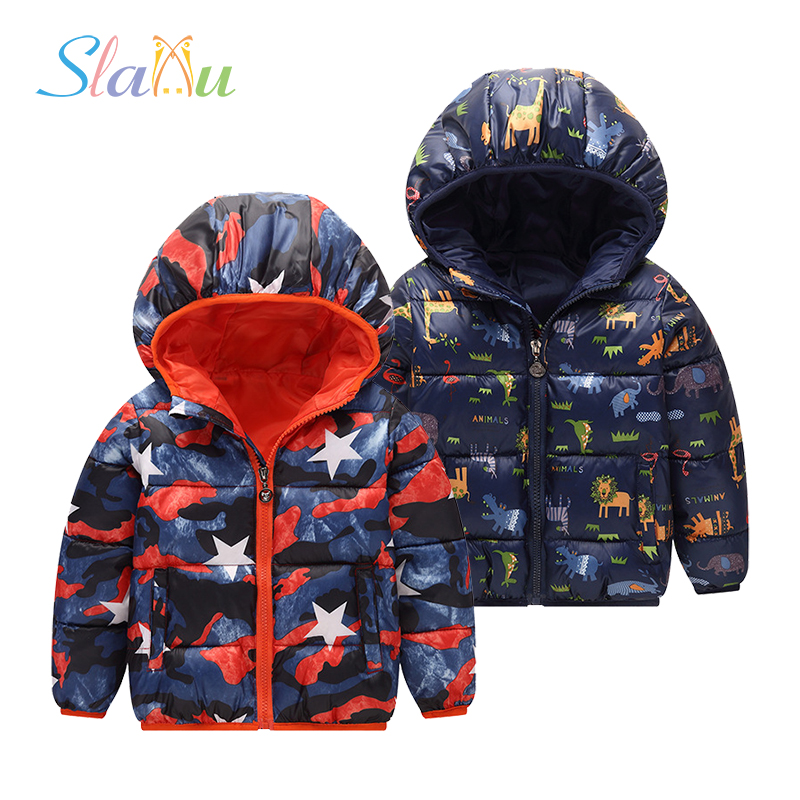 12-Colors Kids Coat Warm Jackets Hooded Teens Boys Girls Winter Coats Cartoon Jacket Windproof Outerwear Children Clothing high quality full grain leather and pu martin boots size 40 41 42 43 44 zipper design lace up decoration round toe boots