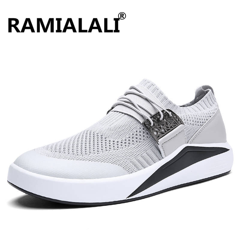 Ramialali Men Running Shoes Fly Weave Light Breathable Sport Shoes Comfortable Sneakers Zapatillas Deportivas Hombre