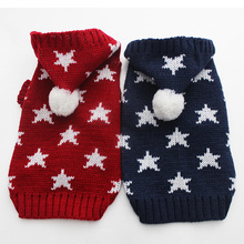 Cat Canine Sweater KNIT Hoody Sportwear Stars design Pet Pet Coat Jacket Heat Jumper Garments 6 sizes